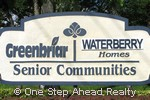 sign for Waterberry Homes