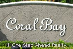sign for Coral Bay