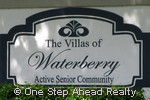 sign for Villas of Waterberry, The