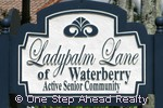 sign for Ladypalm Lane of Waterberry